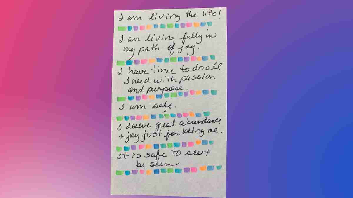 what is the purpose of positive affirmations 4
