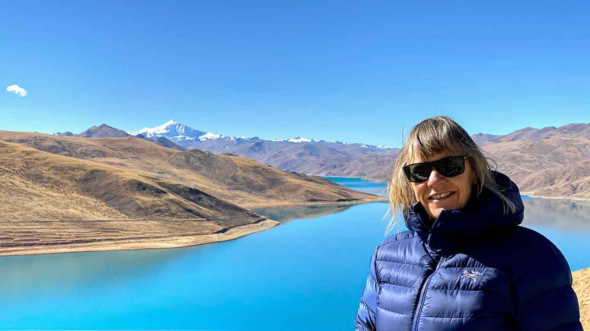 Self-Care Ideas: Yolanda at Yamdroktso in Tibet